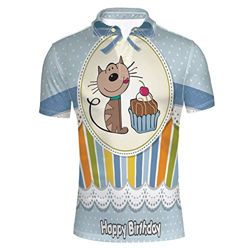iPrint T-Shirts Triplex Cake Candles Ribbons Balloons Newborn for Mens