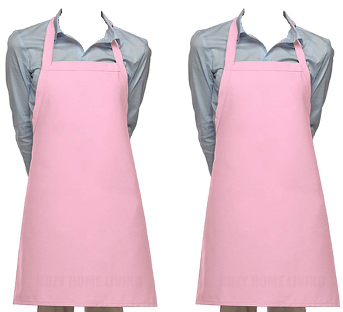 Cozy Home Living Vinyl Waterproof Apron Ultra Lightweight (2, Pink)