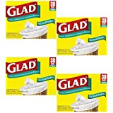 Glad Small Garbage Bags, 4 Gallon Bags, 4 - 30 Packs (120 Total)