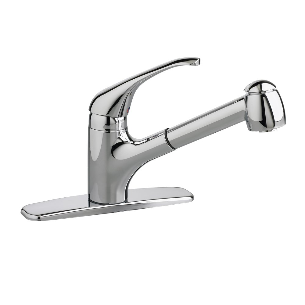 American standard 4205104f15 002 reliant 1 handle pull out kitchen faucet with 1 5 gpm aerator polished chrome touch on kitchen sink faucets amazon