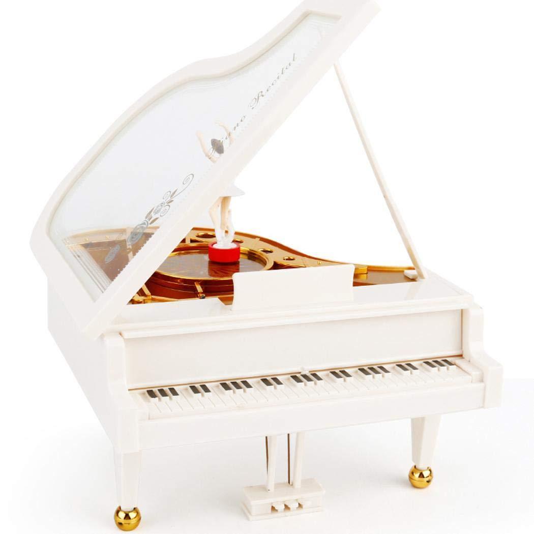 Hiriyt Mechanical Classical Ballerina Girl Dancing on The Piano Music Box