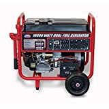 All Power America 10000 Watt Dual Fuel Generator w/ Electric Start, APGG10000GL 10000W Gas/Propane Portable Generator, Red/Black For Sale