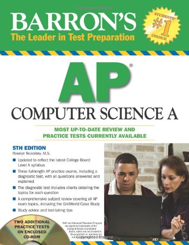 Barron's AP Computer Science A with CD-ROM (Barron's: The Leader in Test Preparation)