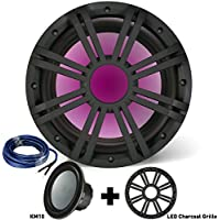 Kicker 10 Inch Marine Subwoofer with RGB LED Charcoal Grille