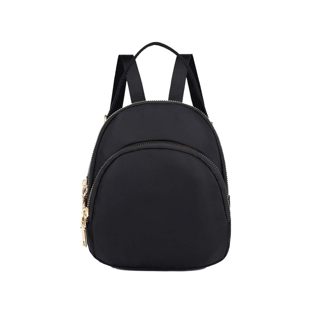 Black HEXUAN Mini Backpack Woman 2019 New Chao Nylon Multilayer Shoulder Pack Purple,Dark bluee