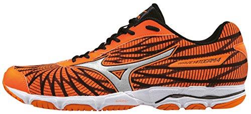 Mizuno Wave Hitogami 4, Zapatillas de Running para Hombre Naranja (Clownfish/silver/black)