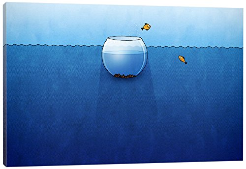 Bowl Canvas Print (iCanvasART Fishbowl in the Ocean Canvas Print, 26