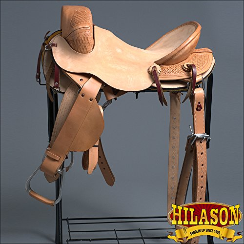 HILASON 15″ Classic Series Hand-Made Rodeo Bronc Riding Saddle