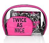 victoria secret brush set - Victoria's Secret Lace Cosmetic Make-up Bag Trio