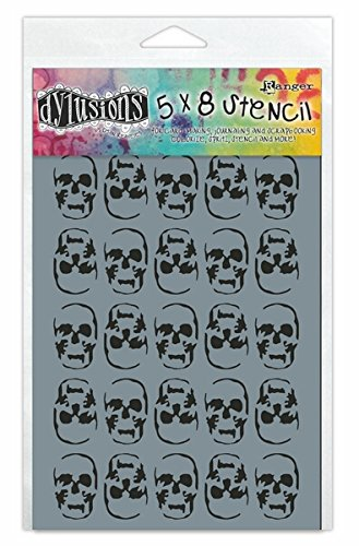 Ranger DYS-45496 Skulls Dyan Reaveley's Dylusions Stencils, 5 by 8