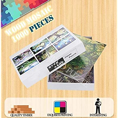 ARTF DIY Present Jigsaw Puzzle 1000 Pieces for Kids Adult Elderly, Large Difficult Wooden Mosaic Painting Gift Japanese Anime One Piece Cartoon Character Puzzle, Decompression Toy (Size : 1000 PCS): Toys & Games