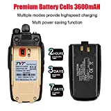TYT TH-UV8000D High Power 10-Watt Dual Band 2M/70CM Two Way Radio Cross-Band Repeater Amateur Hand held Transceiver HAM, with Free Backup Battery