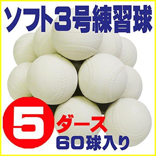 ソフトボール 3号 練習球 スリケン 検定落ち 5ダース (60球入り) Training-soft3-60 B009WJW0GW