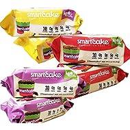 Smartcake Bundle; gluten free, sugar free, low carb, keto snack cakes. 6x twin packs; 2x chocolate 2x lemon 2x cinnamon: