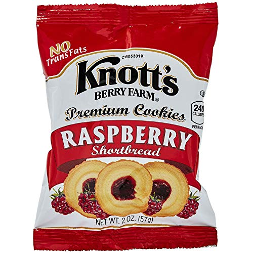 Knott's Berry Farm Raspberry Shortbread, 2-Ounce Packages (Pack of -