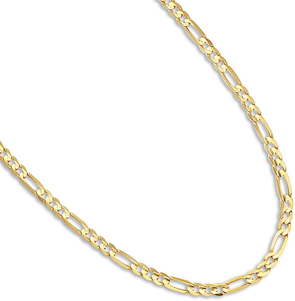 14k Yellow Gold 2.0mm Polished Wheat Chain Necklace 16-24