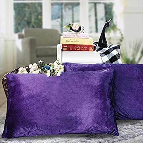 coral fleece solid color linen/Short plush warmth coarse cloth pillowcase-E 48x74cm(19x29inch)