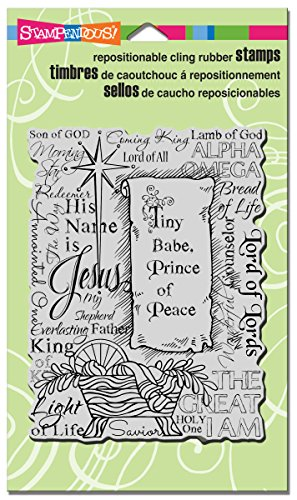STAMPENDOUS CRR273 Cling Rubber Stamp, Tiny (Mouse Christmas Card)