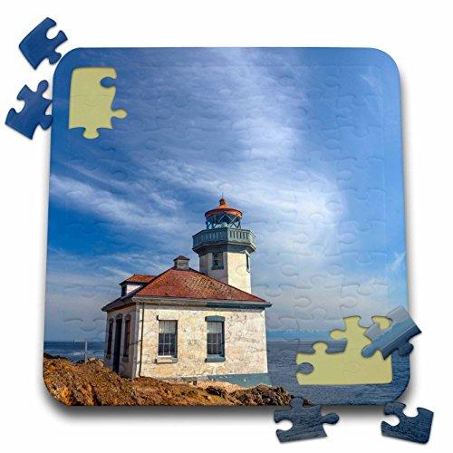 Danita Delimont - Lighthouses - Washington, San Juan Island, Lime Kiln Point Lighthouse. - 10x10 Inch Puzzle (Lime Kiln Lighthouse)