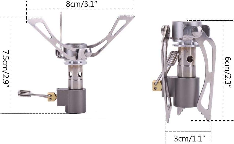 Ardorlove Estufa de Gas para Horno de Camping Cocina de Gas de Bolsillo para Picnic Estufa de Horno de Supervivencia Plegable port/átil al Aire Libre 3000W 45g