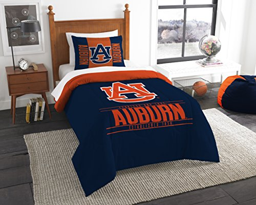 (The Northwest Company Officially Licensed NCAA Auburn Tigers Modern Take Twin Comforter and Sham )