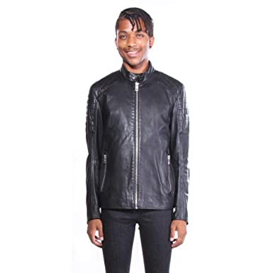 Hugo Boss Men s Jaysee Leather Jacket  Amazon.in  Clothing   Accessories 16a5e4768a6