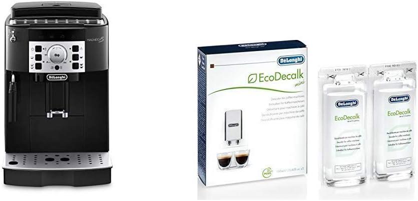 DeLonghi Magnifica S Ecam 22.110.B - Cafetera superautomática, 15 bares de presión, 13 programas ajustables, auto-limpieza + DeLonghi Ecodecalk - Mini descalcificador universal: Amazon.es: Hogar