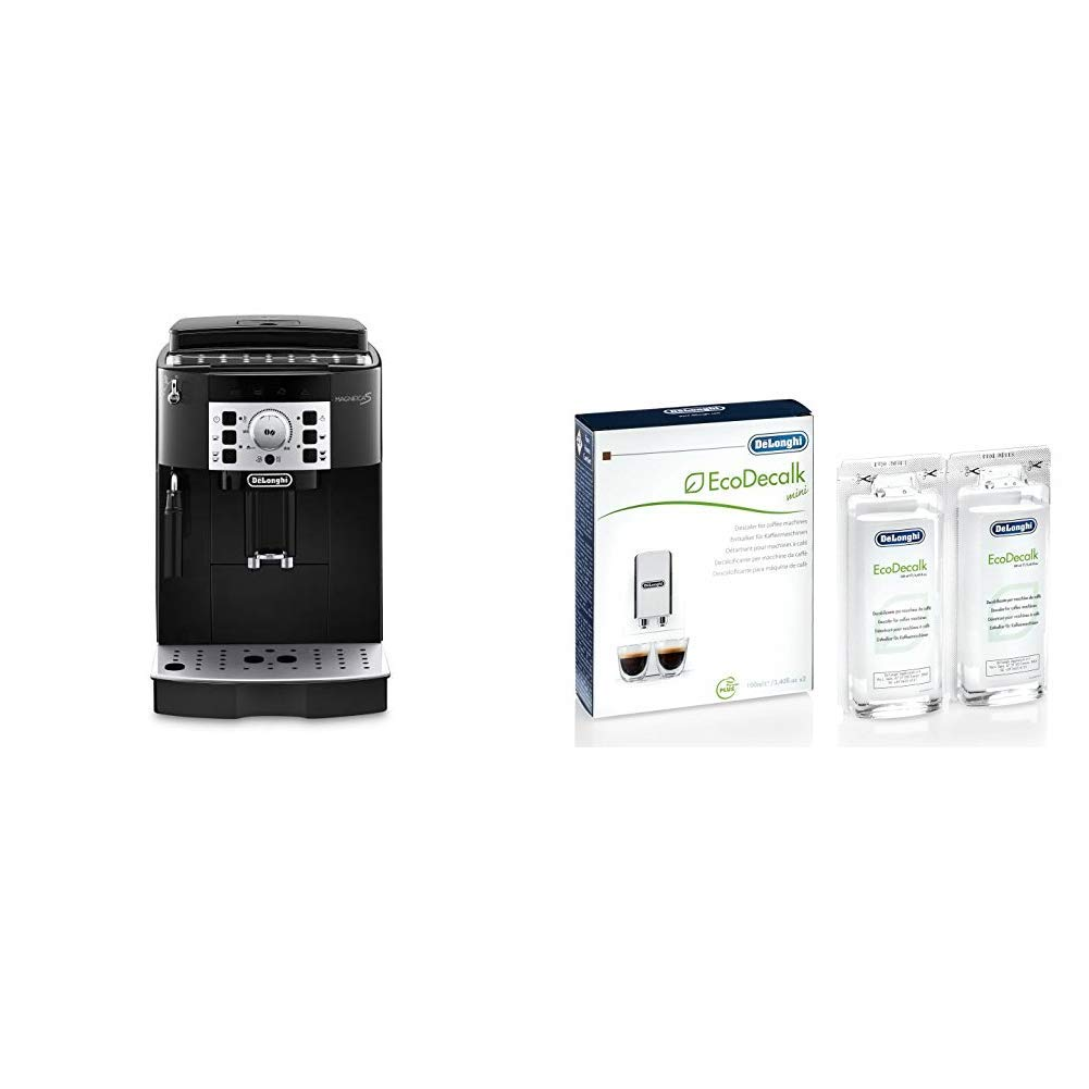 DeLonghi Magnifica S Ecam 22.110.B - Cafetera superautomática, 15 bares de presión, 13 programas ajustables, auto-limpieza + DeLonghi Ecodecalk - ...