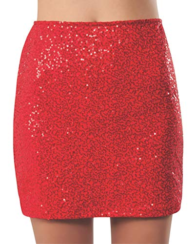 Rubie's Women's Wizard Of Oz Dorothy Costume Sequin Mini Skirt, Red, Large]()
