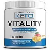 Vitality - Keto BHB Salts - Exogenous Ketones - Supplement for Ketogenic Diet - Ketosis, Energy, Fat Burner. Beta-Hydroxybutyrate Keto Electrolytes - 242 Grams - Orange Mango (Caffiene Free)
