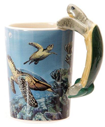 Tasse mit Schildkröte Griff Kaffeetasse Kaffeebecher Becher Teetasse