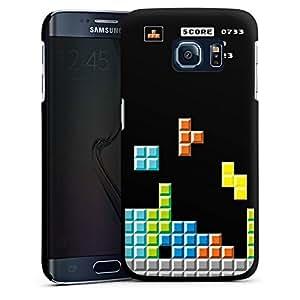Funda edge Samsung Galaxy S6 para Negro - 8 bit Tetris
