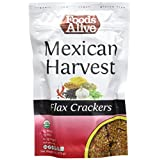 Foods Alive Flax Crackers, Mexican Harvest, Organic, 4 Oz, Pack of 6