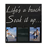 MELANNCO 3-Opening Life's a Beach Sentiment Clip Collage, 18-Inch-by-19.25-Inch