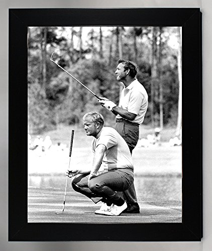 Framed, A Young Jack Nicklaus & Arnold Palmer Sharing a Laugh On The Green. 8x10 Photograph ()