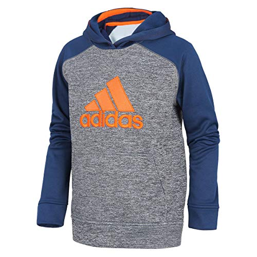 adidas Boys' Athletic Pullover Hoodie (Navy Orange, M - 10/12)