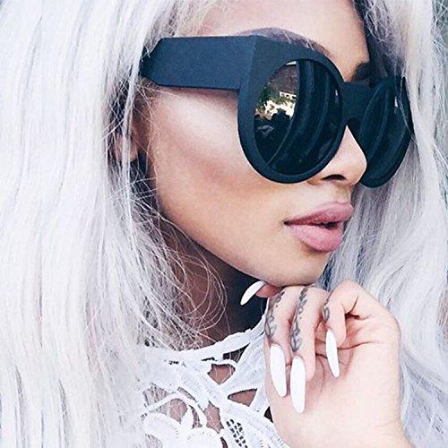Round Cat Eye Oversized Sunglasses Thick Vintage Style Frame Women - Sunglasses Measurements