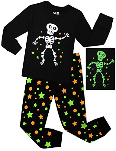 BebeBear Little Boys Pajamas Children Halloween PJs 100% Cotton Luminous Robot Sleepwear Size 6 Years