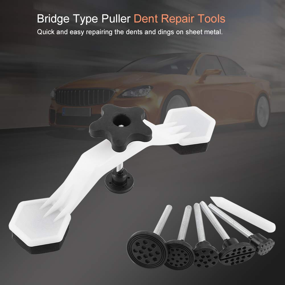 Zerodis Refrigerator Car Body Bridge Type Puller PDR Paintless Dent Repair Tool and Pulling Tabs Set