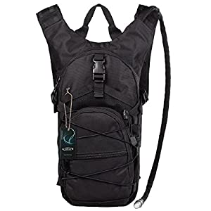 "G4Free hydration pack Sports runner Hydration Backpack With Bladder (19.68""x 8.26""x 4.72"") (Black)"