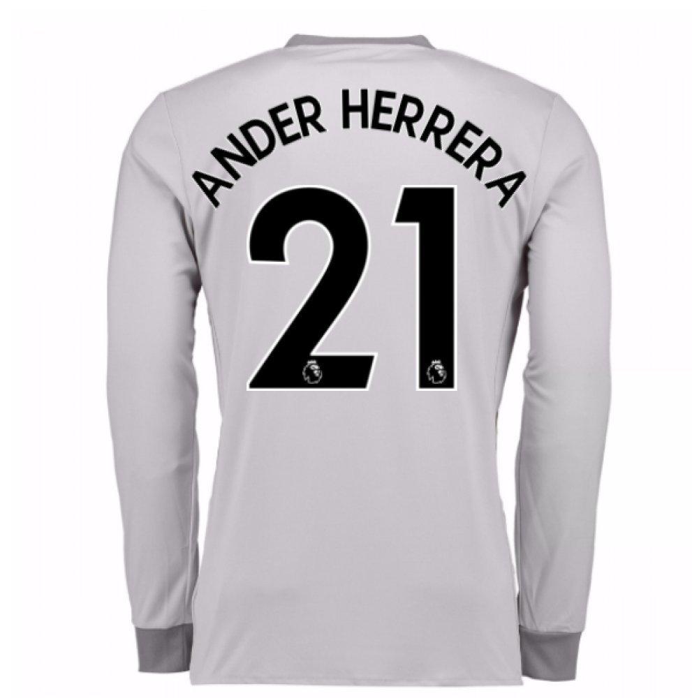 2017-2018 Man United Long Sleeve Third Football Soccer T-Shirt Trikot (Ander Herrera 21)