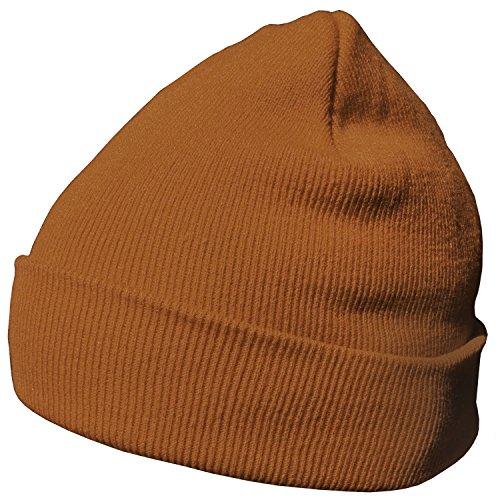 moderno abrigo de DonDon de clásico invierno Marrón gorro y suave diseño gorro Naranja wp8qpBxX