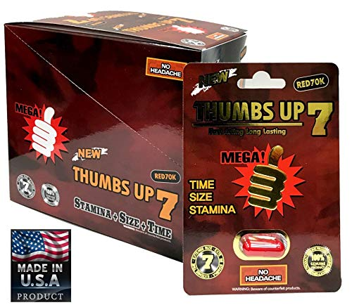 Ummzy Thumbs Up 7 Red 24 Pills Male Enhancing Natural Performance Pill The New Most Effective Natural Amplifier for Performance, Energy, and Endurance