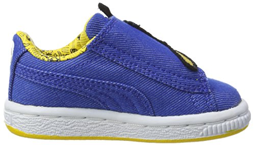 Puma Unisex-Kinder Minions Basket Wrap Statement Denim Inf Sneaker Blau (Lapis Blue-Lapis Blue-Minion Yellow)