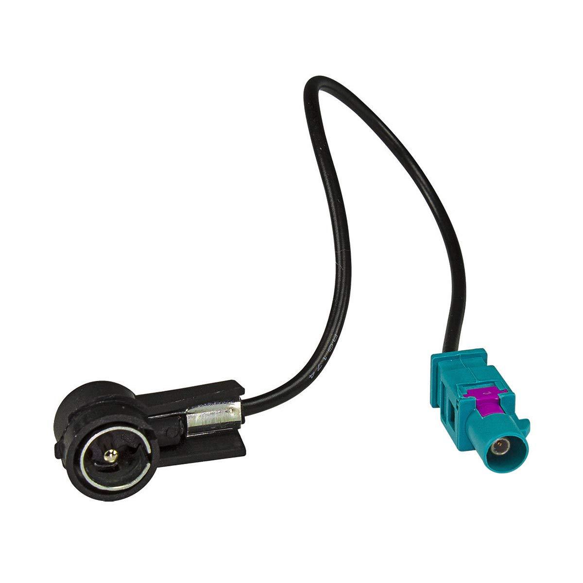 tomzz Audio 2404-016 Radioblende Set passend f/ür BMW 3er E46 mit Quadlockadapter ISO Fakra Antennenadapter ISO