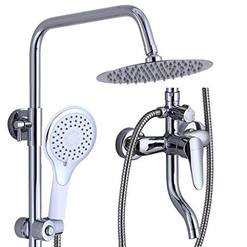 Dusch-armaturen Gold Poliert Regen Und Wasserfall Dusche Kopf Mit Led Licht Badezimmer Dusche Wasserhahn Badewanne Mischbatterie Der Preis Bleibt Stabil Badezimmerarmaturen