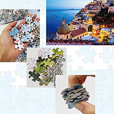 CJH Landscape Puzzles 1000 Pieces Jigsaw Puzzle for Kids, Adults Family Game Puzzles Amalfi Coast: Toys & Games
