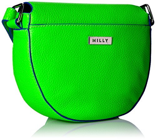 Milly Small Astor Saddle Crossbody Green Lime qZ6q4