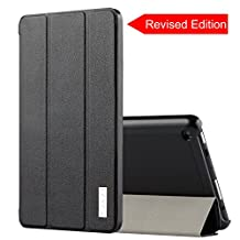 All-New Fire HD 8 Case, J&D Amazon All-New Fire HD 8 Tablet Smart Cover Slim Lightweight Protective Folding Case for Fire HD 8 (2016 Release, 6th Generation) - Black