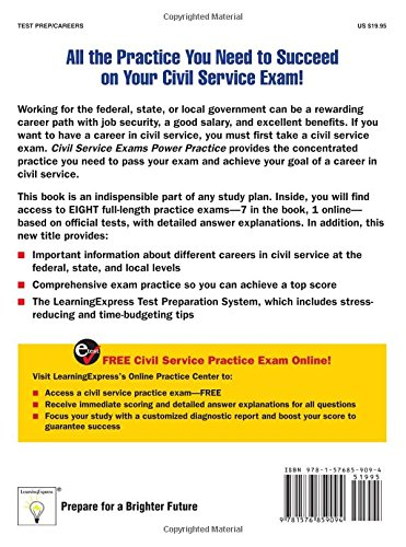 Civil Service Exams: Power Practice: Learning Express Llc ...